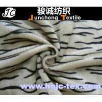Wholesale printed Tiger stripes knitting fabric/short plush fabric with good quality/common velboa from china suppliers