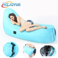 Buy cheap Outdoor fast inflatable air bed camping waterpoof air sleeping bag for beach hangout lazy laybag inflatable lounger from wholesalers