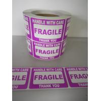 Quality Self Adhesive Electrical Warning Shipping Labels Pre - Printed Fragile Sticker for sale