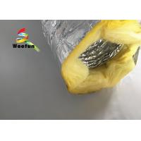 Quality Round 10 Inch HVAC Duct Insulation Wrap , Aluminum Foil Insulated Ventilation Metal Duct Insulation Wrap for sale