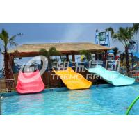 Wholesale 2m Height Fiberglass Kids' Water Slides , Parent - Child Water Park Equipment Mountain Slide from china suppliers