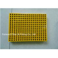 Wholesale Yellow Anti High Temperature Frp Grating Trench Ditch Cover Corrosion Resistant from china suppliers