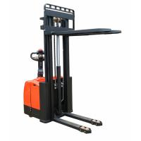 Quality 2ton capacity DC power Electric pallet stacker with triplex mast for sale