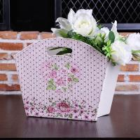 Wholesale Free Shipping Rose Pink Pattern Quality Holiday Sundry Basket Home Accessories Vintage Portable Gift Baskets Empty from china suppliers