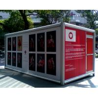 Wholesale Foldable Charity Container Exhibitions - Galvanized Steel Sturcture, Red Paint from china suppliers