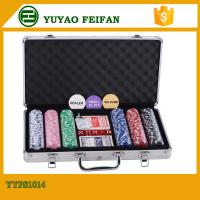 Quality 6 Colors Professional Poker Chips Sets For Casino 300 Pcs Round Corner for sale