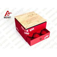 Wholesale Fabric & Die Cut Handle Recycled Paper Gift Box Small Size 110 * 50 * 190mm from china suppliers