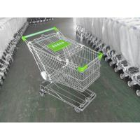 Wholesale 125L Supermarket Shopping Cart Zinc Plating 4 Inch Rubber Wheel from china suppliers