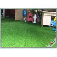 Wholesale Natural Appearance Outdoor / Indoor Synthetic Grass W Shape Monofil PE + Curled PPE from china suppliers