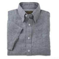 China Men's Pure Linen Short-sleeve Shirts on sale