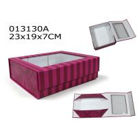Wholesale PVC Window Foldable Cardboard Boxes Bespoke Cardboard Packaging 23X19X7 cm from china suppliers