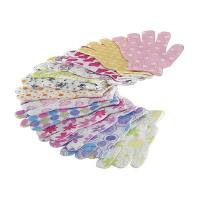 Wholesale House Exfoliating Bath Mitt Body Wash Gloves Wave Pattern Printed from china suppliers