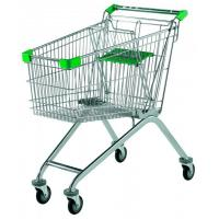 Wholesale Indoor / Outdoor Supermarket Shopping Trolley Customizable Color With Child Seat from china suppliers
