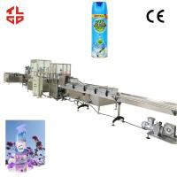Wholesale Air Freshener Aerosol Filling Machine , Aerosol Can Filling Equipment High Speed from china suppliers