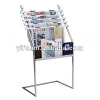 Wholesale 020512 Floor Standing Metal Magazine Rack from china suppliers
