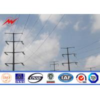 Wholesale 11m 5 KN Steel Power Pole Double Circuit Transmission Line Electric Utility Poles from china suppliers