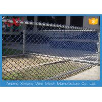 Wholesale 5m Height 30m Length Pvc Coated Chain Link Fence With Frame Sides For Decorative Playground from china suppliers