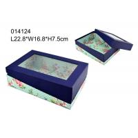 Wholesale Custom Clear Window Paper Packaging Box Coloured For Cosmetic / Chocolate from china suppliers