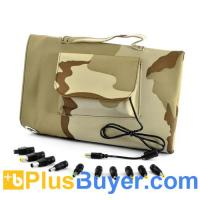 Wholesale Waterproof 30Watt Solar Battery Charger (Camouflage Design, 10x Laptop Adapters) from china suppliers