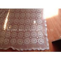 Wholesale Floral And Stars Pattern Crochet Table Cover Twill Style Round Floral Shape from china suppliers
