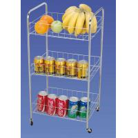 Wholesale Φ 10 mm 3 TIER Wire Kitchen Food Storage Racks / Shelves, Rolling Storage Cart JP-33C from china suppliers