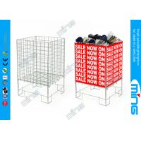 Wholesale Square Retail Shop Dump Bins Zinc Plated Advertising Display Basket from china suppliers