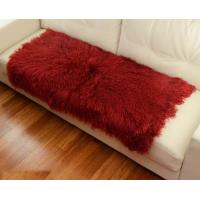 Wholesale 10 -15cm Wool Large Sheepskin Area Rug , Sheepskin Runner Rug For Home Sofa Seat Cover from china suppliers