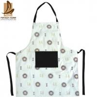 Flower Printed Comfortable Floral Cotton Kitchen Apron Home Cooking Uniform