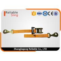 Wholesale Heavy Duty Ratchet Tie Down Strap 3000lbs Rated Capacity with Flat Snap Hooks from china suppliers