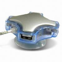 Wholesale 4-port USB 2.0 Hub with 480Mbps High-speed Data Transfer Rate from china suppliers