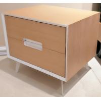Metal supporting leg storage cabinet, wood structure wtih 2 drawers