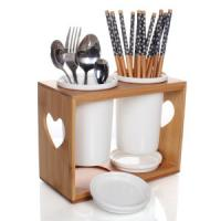 Wholesale China Bamboo Utensil Holder Spoon Holder with good quality from china suppliers