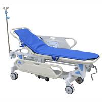 Wholesale Galvanized Steel Patient Transfer Trolley With Manual Crank 630 - 930mm Height Adjustment from china suppliers