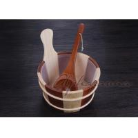Quality Popular sauna buckets And Ladle , portable home sauna set Durable for sale