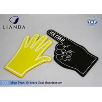 Wholesale Number One Foam Fingers Hand Blue School Team Spirit with Silk Print from china suppliers