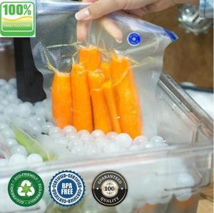 China vacuum sealer storage bag Heat seal laminated transparent vacuum plastic food packing bags for sausage, BAGPLASTICS. BAG on sale