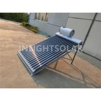 Quality 15 Tubes Vacuum Tube Solar Collector Galvanized Steel With Feeding Tank for sale