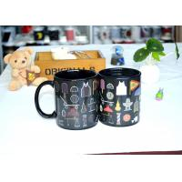 Wholesale Popular Black Reactive Color Changing Ceramic Mug , Lovely Magic Heat Mug from china suppliers
