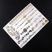 Wholesale Fashion Decoration Hair Tattoo Sticker , Silver And Gold Temporary Tattoos from china suppliers