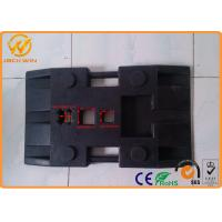 Wholesale Heavy Duty Durable Rubber Pole Base 80 * 40 * 12cm For Traffic Post / Bollard from china suppliers