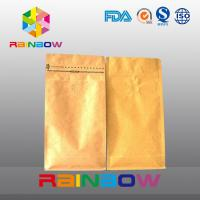 Wholesale Bottom gusset stand up ziplock bags for coffee packaging with valve from china suppliers