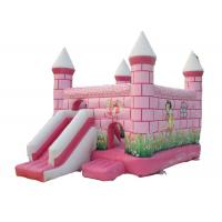 Central City Bounce House Slide Combo Pink Inflatable Amusement Park