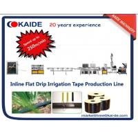 Buy cheap Drip Irrigation Tape Production Machine with flat dripper inside speed 250m/min from wholesalers