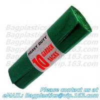 Wholesale Green bin liner, seal bags, c-fold bags, bags on roll, roll bags, produce roll, HDPE sacks from china suppliers
