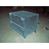Wholesale Transport Welded Steel Wire Mesh Pallet Cage With Cover Lid Protection from china suppliers