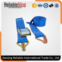 Wholesale Customerized Blue Polyester Cam Lock Buckle , Metal Cargo Buckle Straps from china suppliers