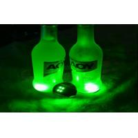Quality Promotion Bar Ware Blinking Light Up Products Plastic Bottle Led Light Coasters for sale