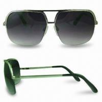 Wholesale Classic Sunglasses with Scratch-resistant Coating on Lens, Various Frame Colors are Available from china suppliers