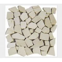 Wholesale White Quartzite Gravel Mosaic,Natural Stone Mosaic Pattern,Crushed Stone Mosaic Wall Tiles,Interior Stone Mosaic from china suppliers