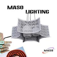 Wholesale MASO Metal Material Hanging Pendant Lamp Steel Rope Adjustable Three Lamp MS-I6035 from china suppliers